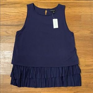 Banana Republic navy tiered tank Medium